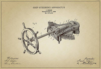 Ship Steering Apparatus Poster by Ambro Fine Art