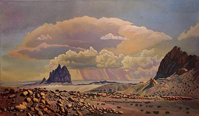 Poster featuring the painting Shiprock Vista by Art West
