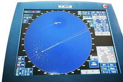 Ship's Radar Screen Poster by Adam Hart-davis