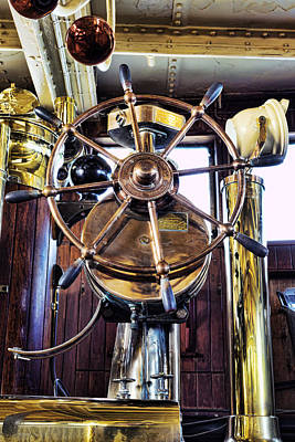 Ships Wheel Poster by Kelley King