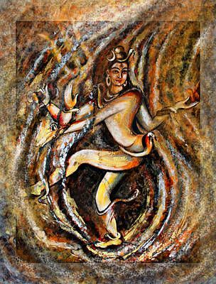Poster featuring the painting Shiva Eternal Dance by Harsh Malik