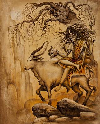 Shiva On Nandi Bull Poster