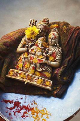 Shiva Parvati Ganesha Poster by Tim Gainey