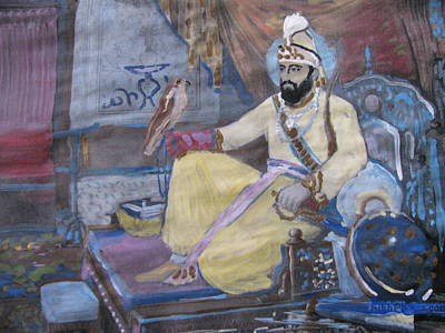 Poster featuring the painting Guru Gobind Singh by Vikram Singh