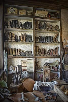 Shoe Repair Shop In 1880 Town Poster