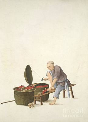 Shoemaker, 19th-century China Poster by British Library