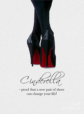 Shoes Can Change Your Life Poster by Rebecca Jenkins