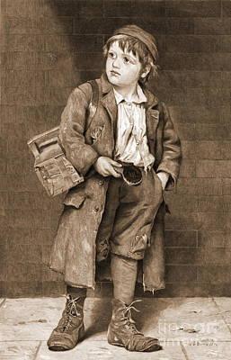 Shoeshine Boy 1890 Poster by Padre Art