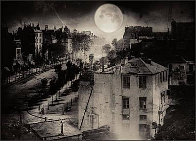 Shoeshine On The Boulevard Du Temple 1838  Paris Poster