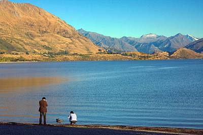 Poster featuring the photograph Shooting Ducks On Lake Wanaka by Stuart Litoff