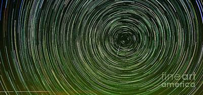 Shooting Star Trails Poster