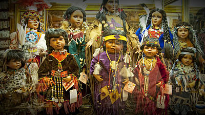 Shop Display Of American Indian Dolls Poster by Randall Nyhof