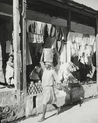Shop Fronts In Haiti Poster by Cecil Beaton