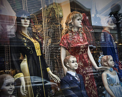 Shop Window Display Of Mannequins Poster