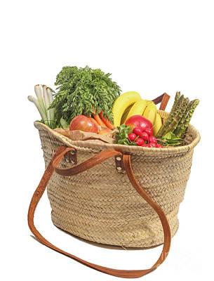 Shopping For Orrganic Fruit And Vegetables  Poster
