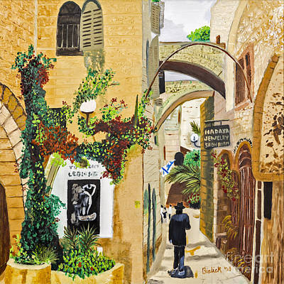 Shopping In Jerusalem By Stan Bialick Poster