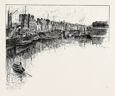 Shore Street, Leith,  Lies On The South Shore Of The Firth Poster by English School