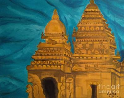 Shore Temple Poster by Brindha Naveen