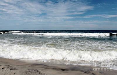 Shore Waves At Lbi Poster by John Rizzuto