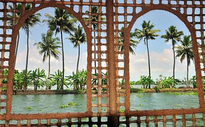 Shoreline Of The Kerala Backwaters Poster by Steve Roxbury