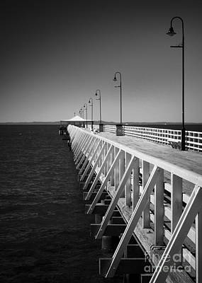 Poster featuring the photograph Shorncliffe Pier In Monochrome by Peta Thames