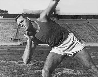 Shot Putter Parry O'brien Poster by Underwood Archives