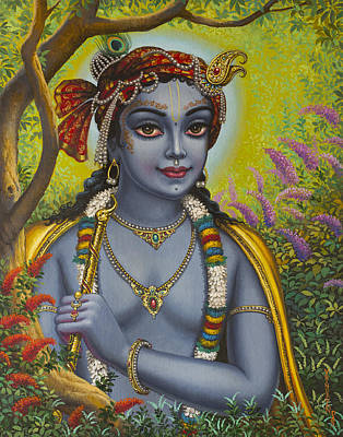 Shree Krishna Poster by Vrindavan Das