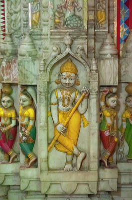 Shree Laxmi Narihan Ji Hindu Temple Poster by Inger Hogstrom