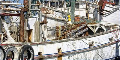 Shrimp Boat Poster by Wendell Thompson