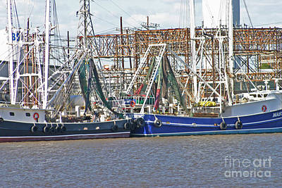 Shrimp Boats 1 Port Arthur Texas Poster by D Wallace