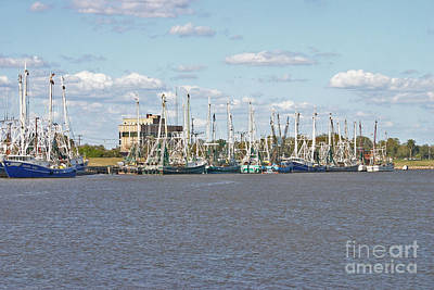 Shrimp Boats 2 Port Arthur Texas Poster by D Wallace
