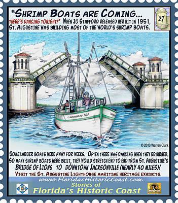 Shrimp Boats Are Coming Poster