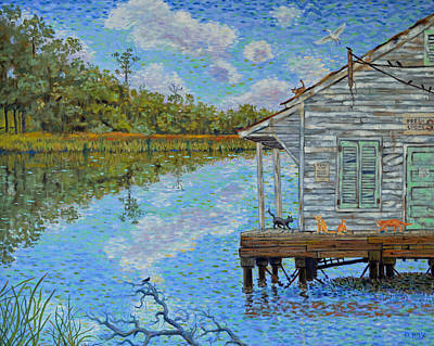 Poster featuring the painting Shrimp Shack by Dwain Ray