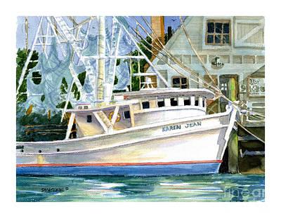 Shrimper Karen Jean Poster