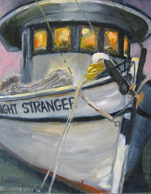 Shrimping Tonight Poster by Susan Richardson