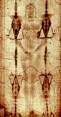 Poster featuring the digital art Shroud Of Turin by A Samuel