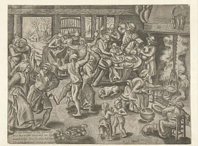 Shrove, Balthazar Van Den Bos, Marten Van Cleve Poster