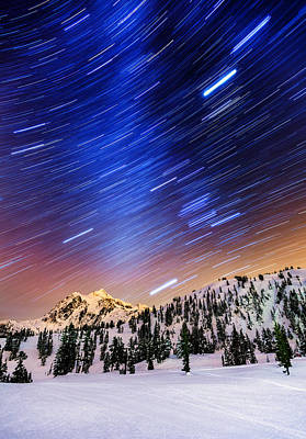 Shuksan Star Trails Poster by Alexis Birkill