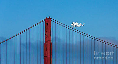 Shuttle Endeavour At The Golden Gate Poster