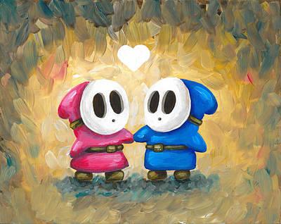 Shy Guys In Love Poster by Katie Clark