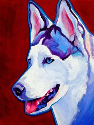Siberian Husky - Arctic Smile Poster