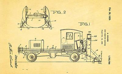 Sicard Snow Plow Patent Art 1929 Poster