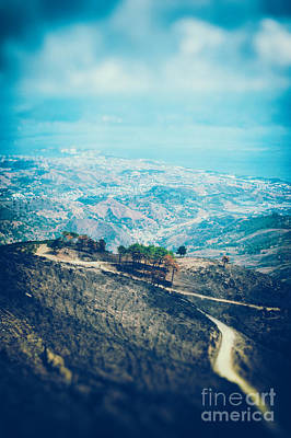 Poster featuring the photograph Sicilian Land After Fire by Silvia Ganora