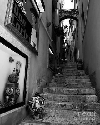 Sicilian Steps Bw Poster by Mel Steinhauer