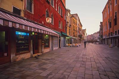 Sicilian Street Scene Poster
