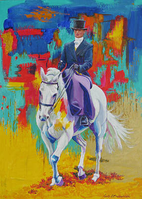 Side Saddle Contemporary Poster