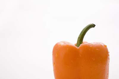 Side View Orange Pepper Poster