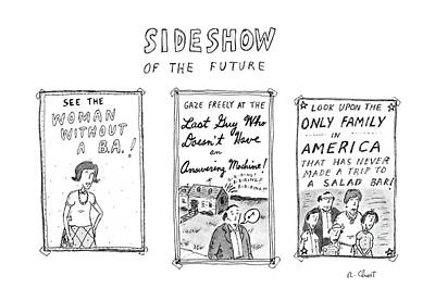 Sideshow Of The Future Poster by Roz Chast