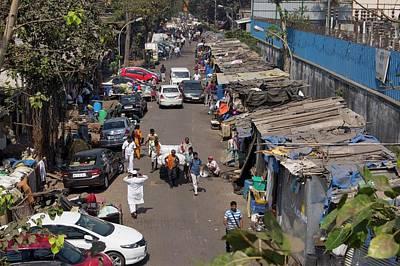 Sidestreet In Mumbai Poster by Mark Williamson