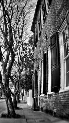 Sidewalk Scene-charleston Poster by Andrew Crispi